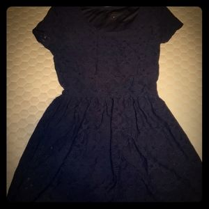 Navy Blue Junior's Laced Dress